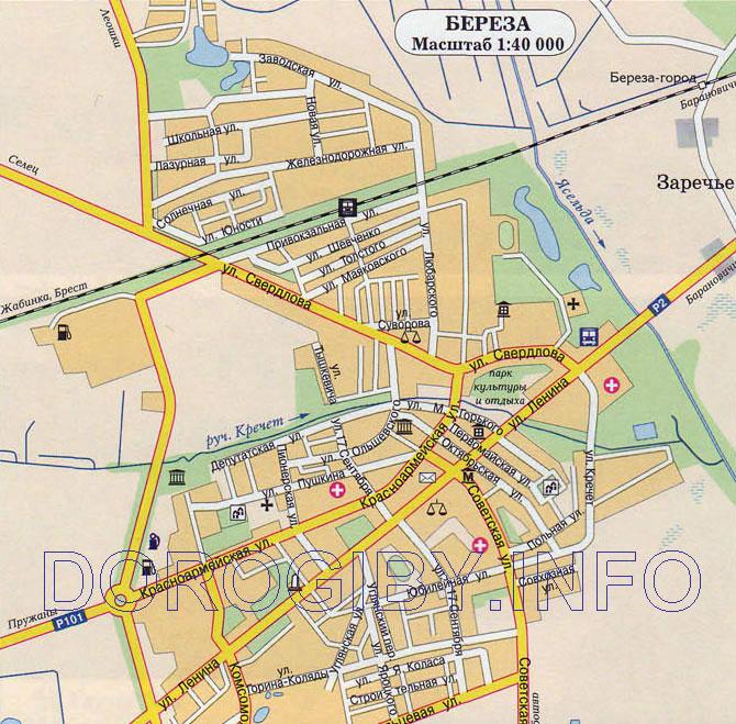 Карта Берёзы