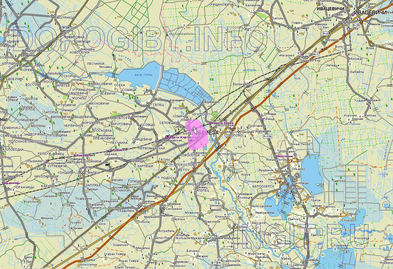 Карта Берёзовского района