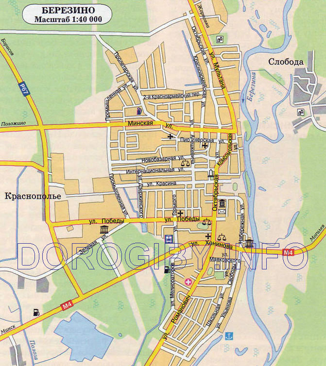 Карта Березино