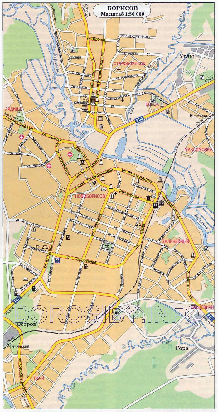 Карта Борисова