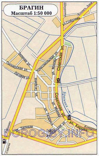 Карта Брагина
