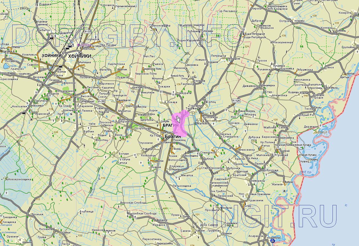 Карта Брагинского района