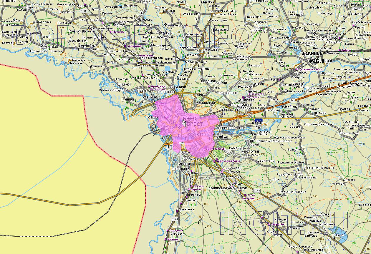 Карта Брестского района