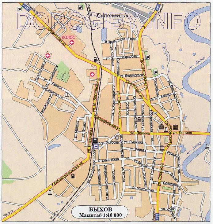Карта Быхова