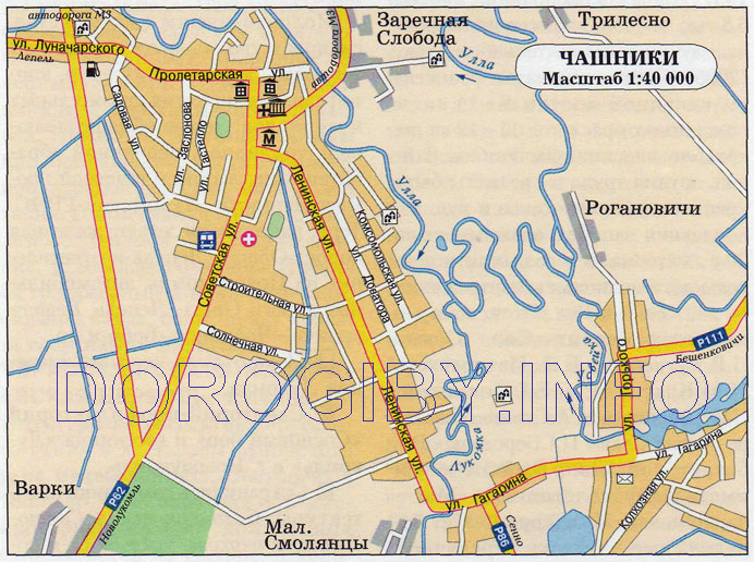 Карта Чашник