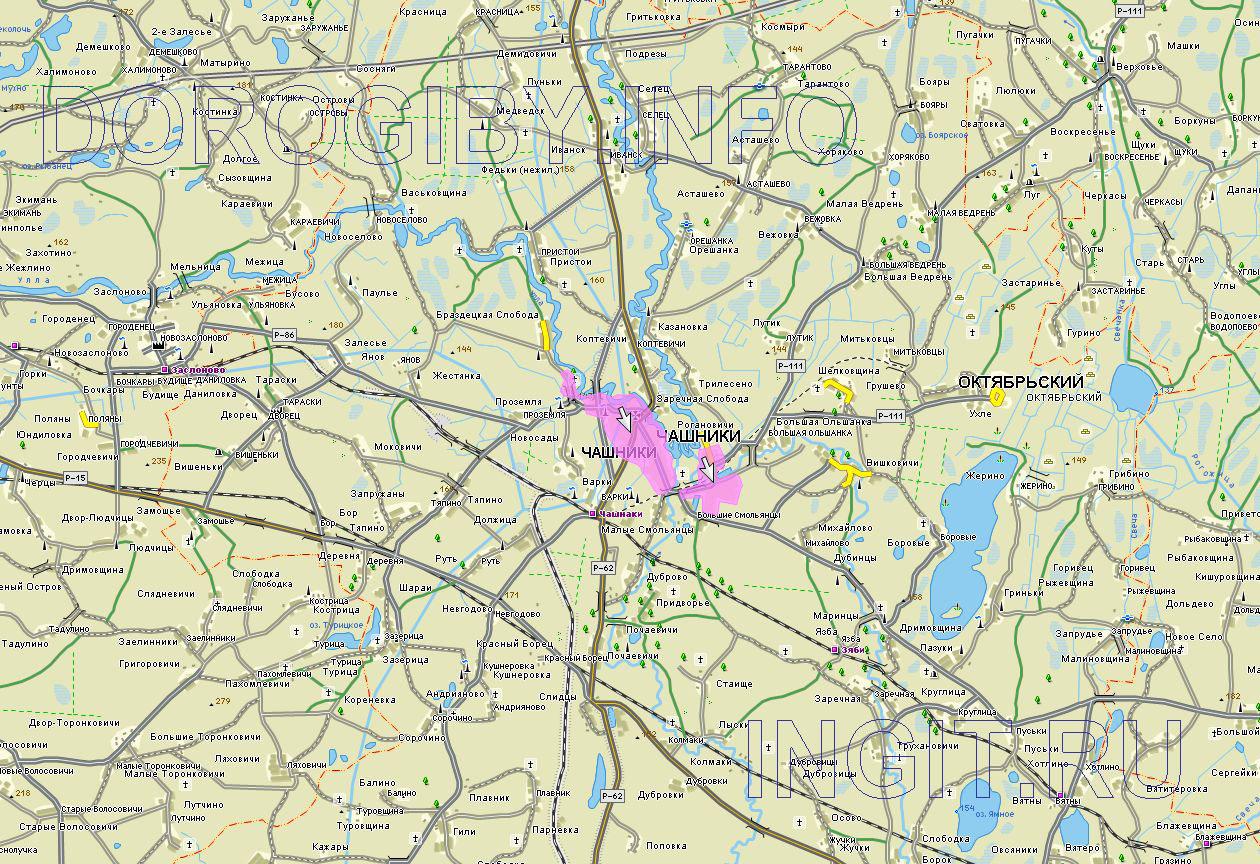 Карта Чашникского района