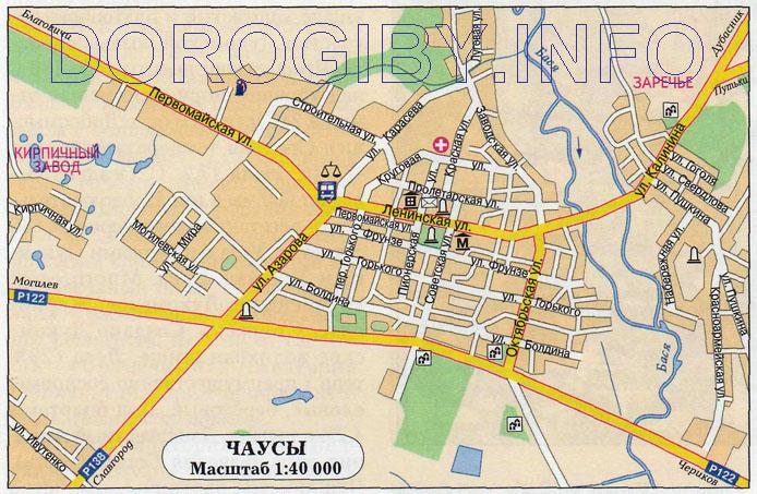 Карта Чаусов