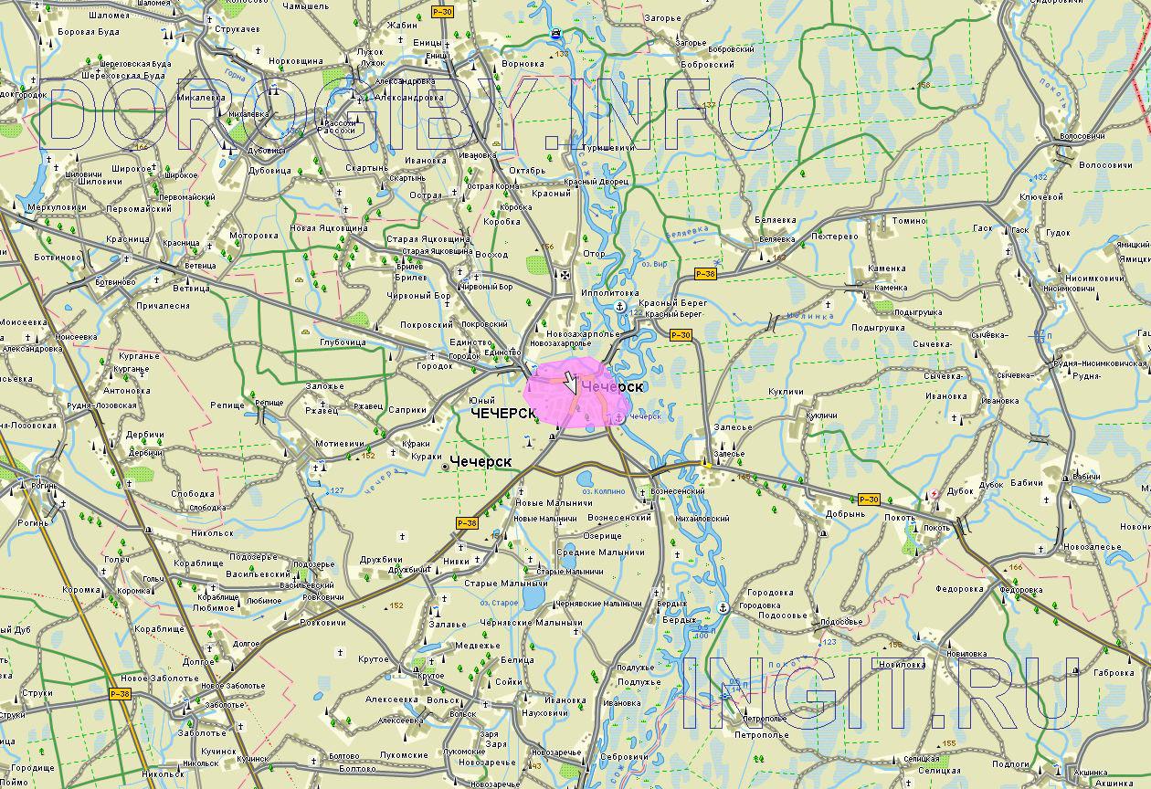 Карта Чечерского района