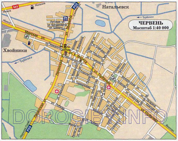 Карта Червеня