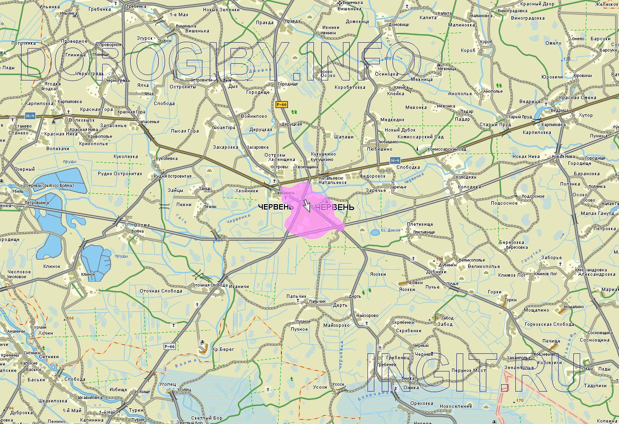 Карта Червенского района