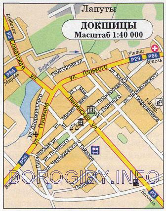 Карта Докшиц