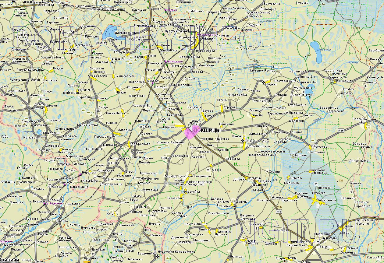 Карта Докшицкого района