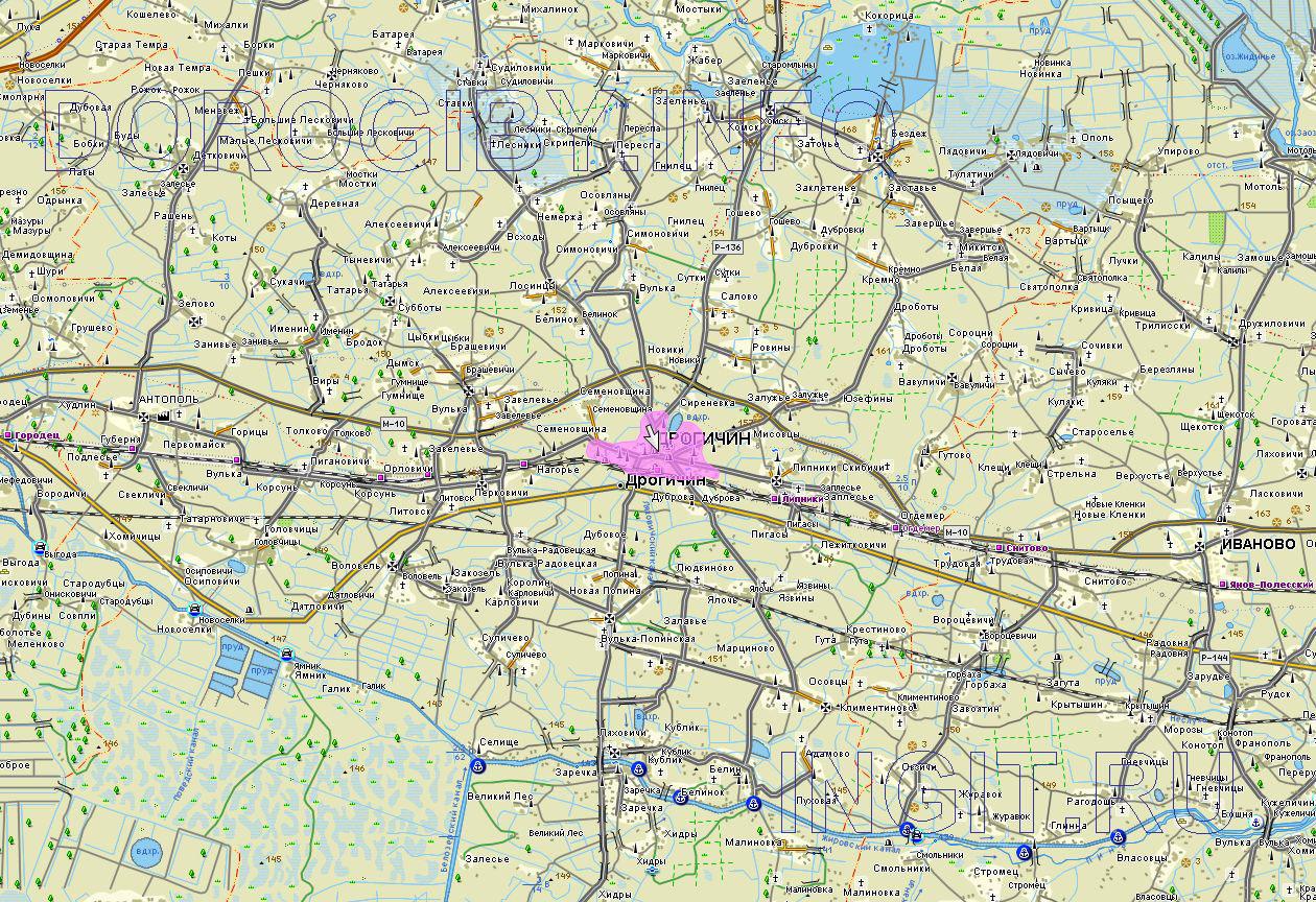 Карта Дрогичинского района