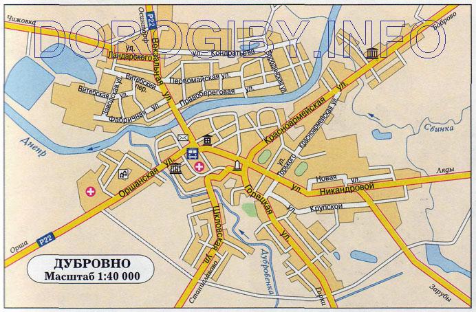 Карта Дубровно