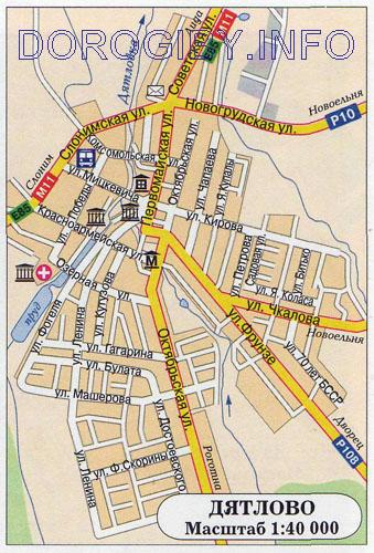 Карта Дятлово