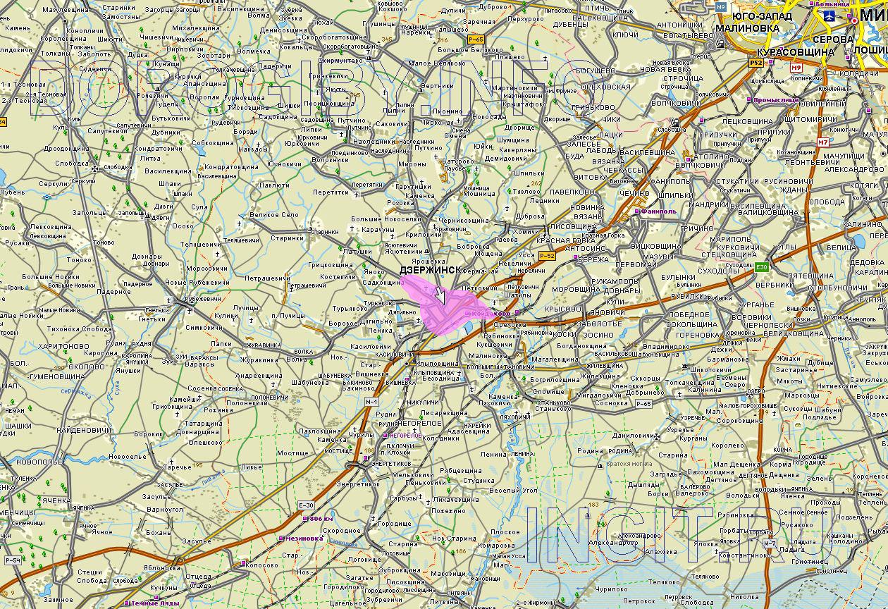 Карта Дзержинского района