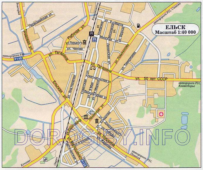 Карта Ельска