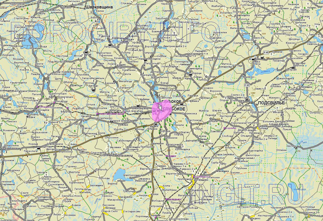 Карта Глубокского района