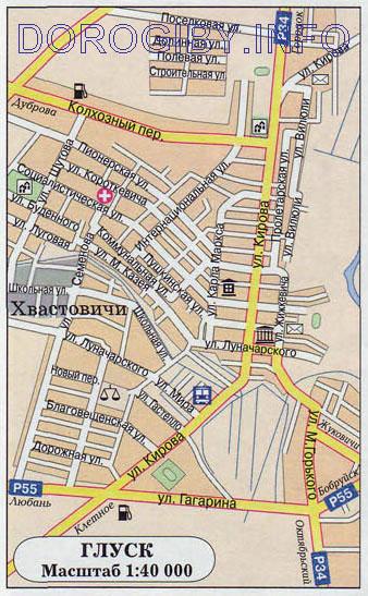 Карта Глуска