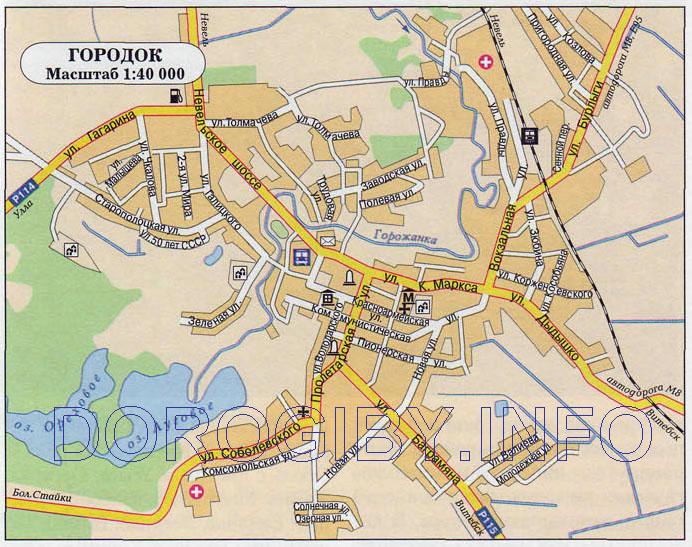 Карта Городка