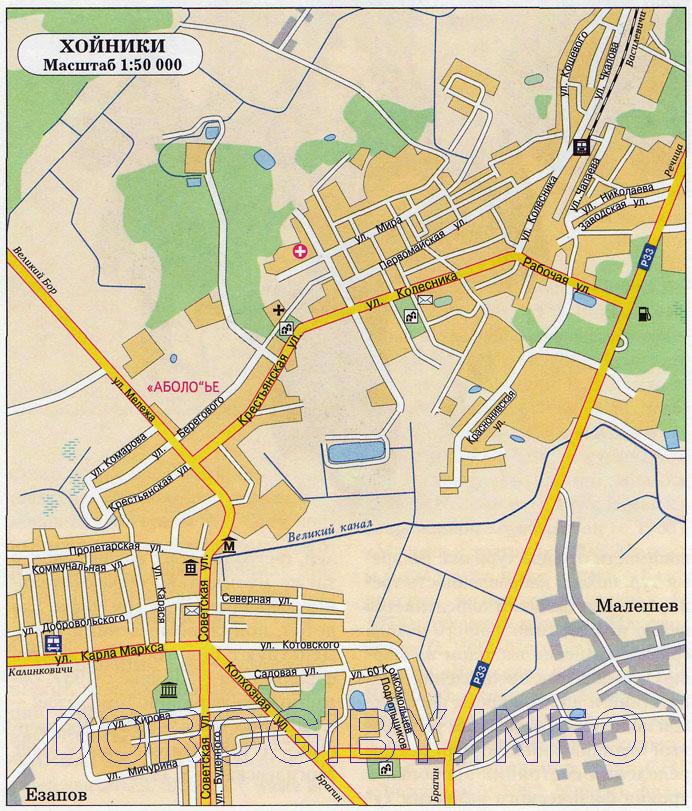 Карта Хойников