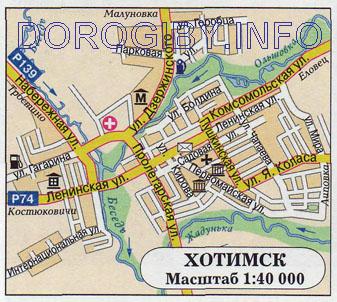 Карта Хотимска
