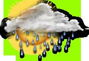 облачно, дождь