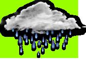 пасмурно, дождь
