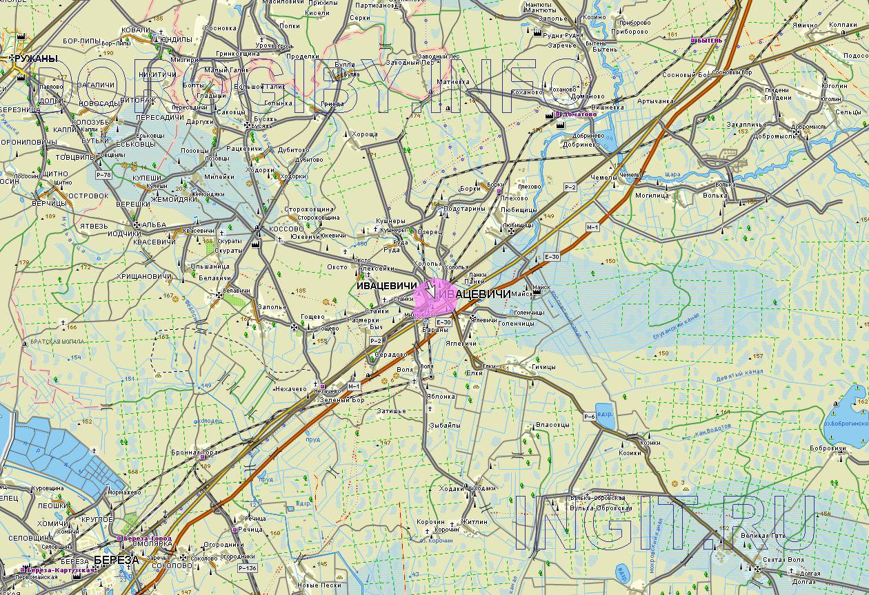 Карта Ивацевичского района
