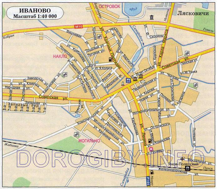 Карта г. Иваново со спутника.  Yandex).