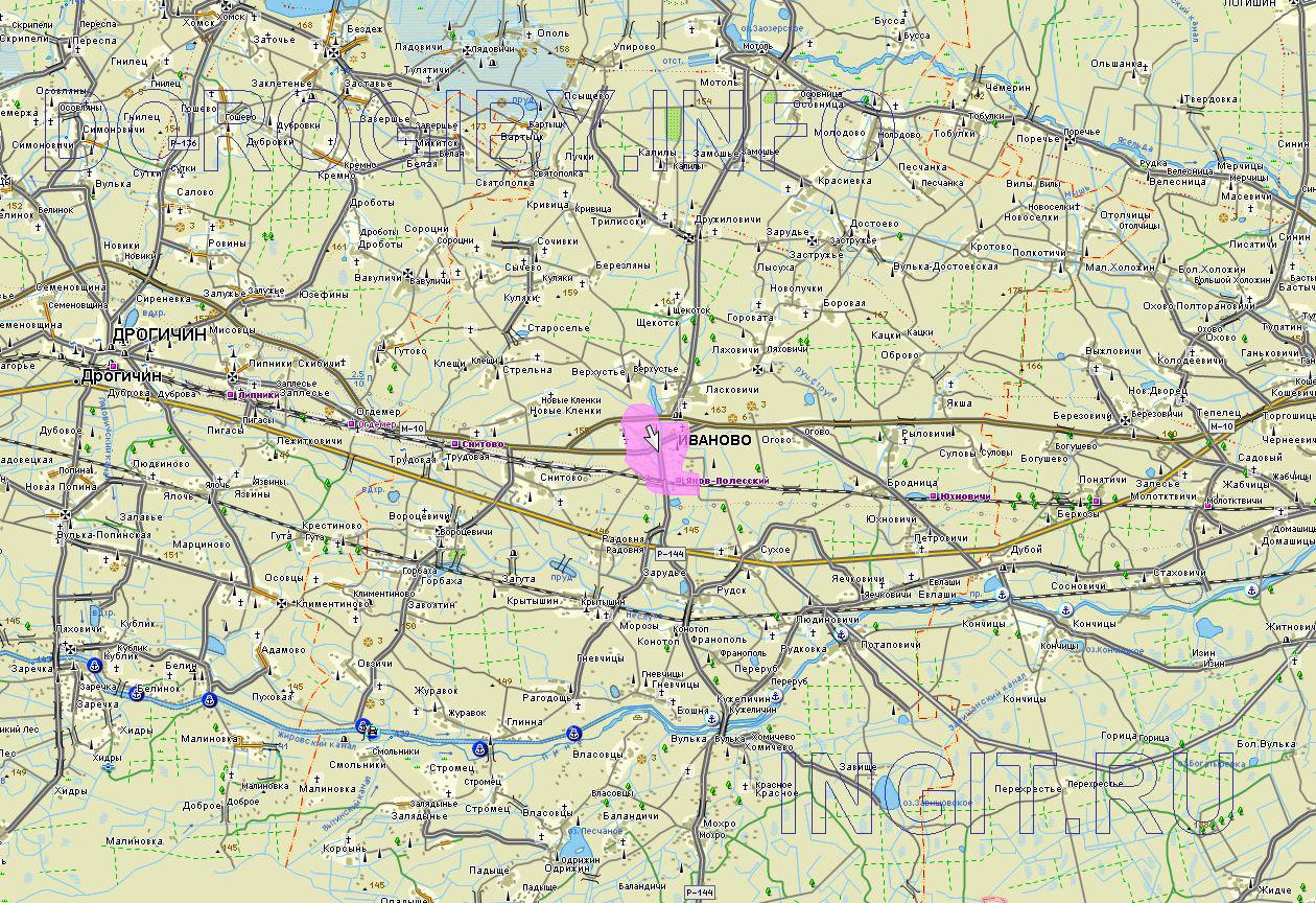Карта Ивановского района