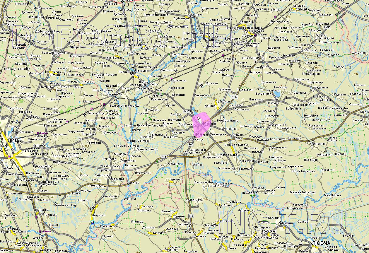 Карта Ивьевского района