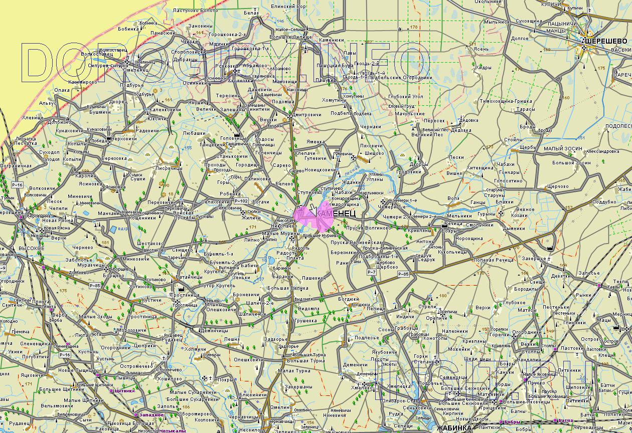 Карта Каменецкого района