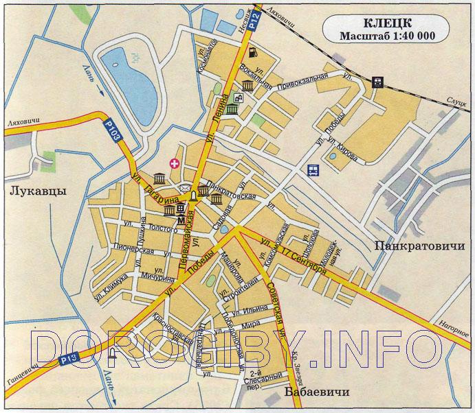 Карта Клецка