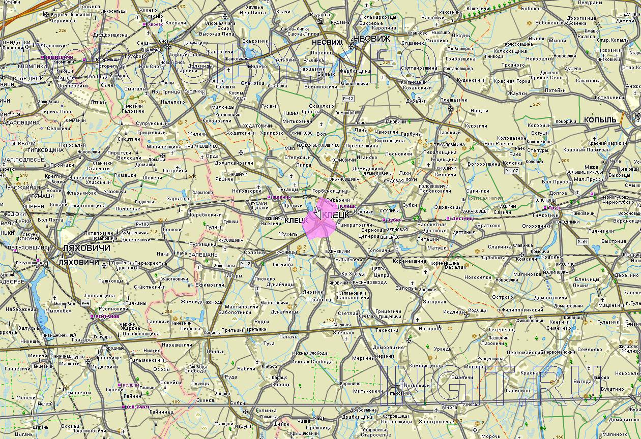 Карта Клецкого района