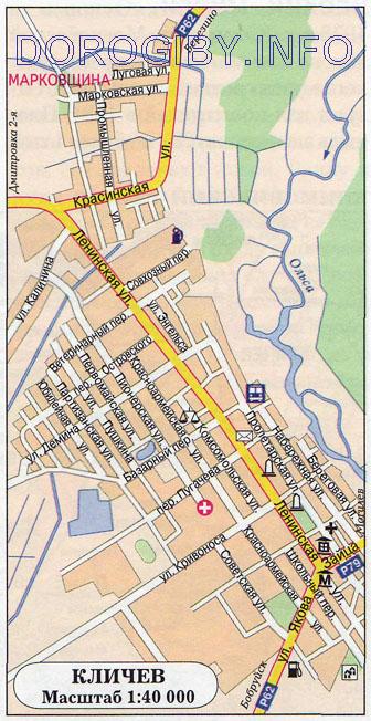 Карта Кличева