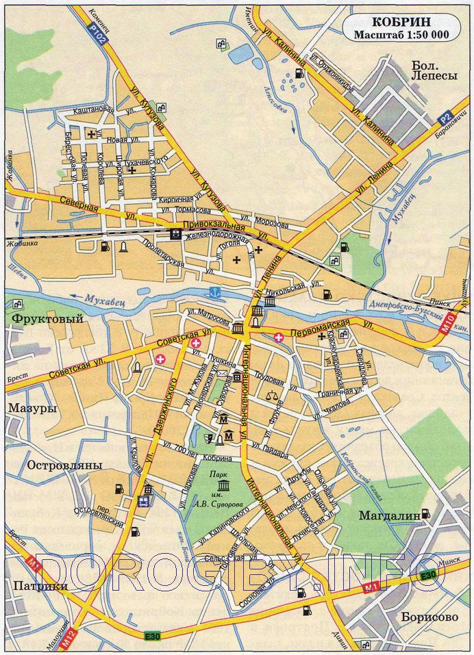 Карта Кобрина