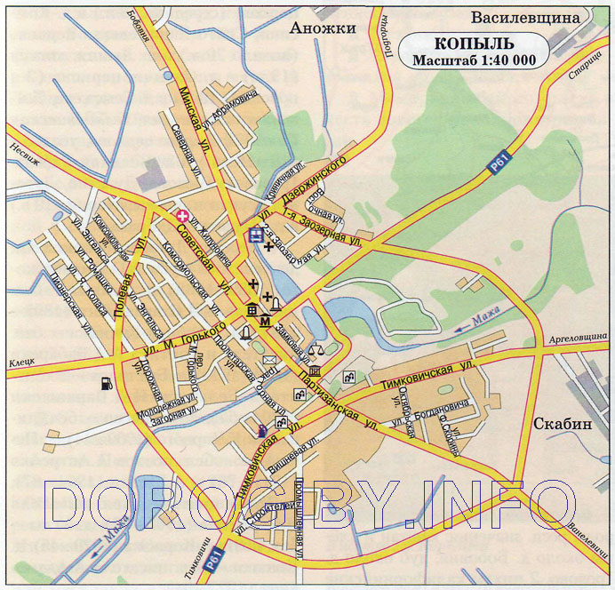 Карта Копыля