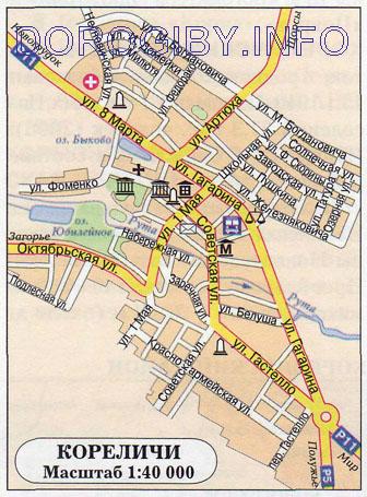 Карта Кореличей