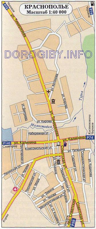 Карта Краснополья