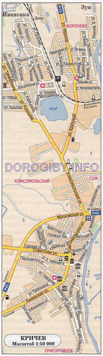 Карта Кричева