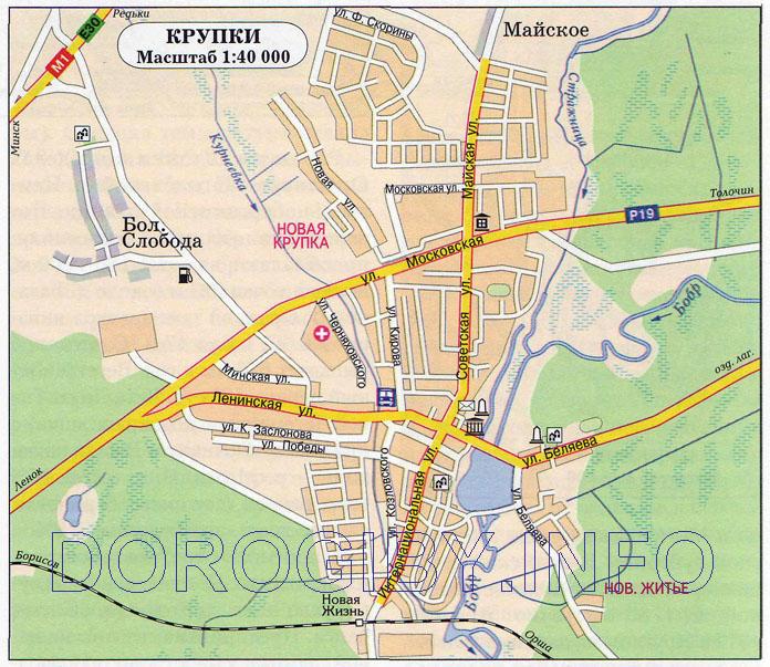 Карта Крупок
