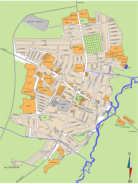 Карта Лельчиц