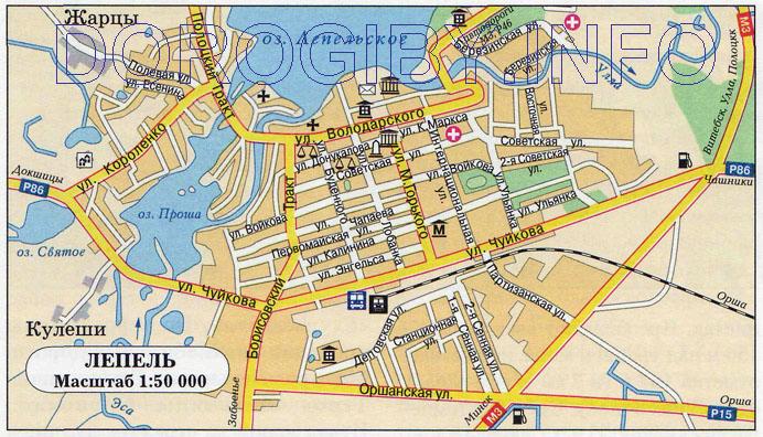 Карта Лепеля
