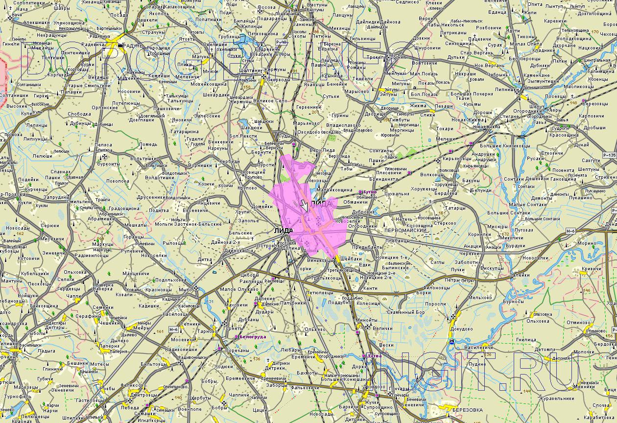Карта Лидского района