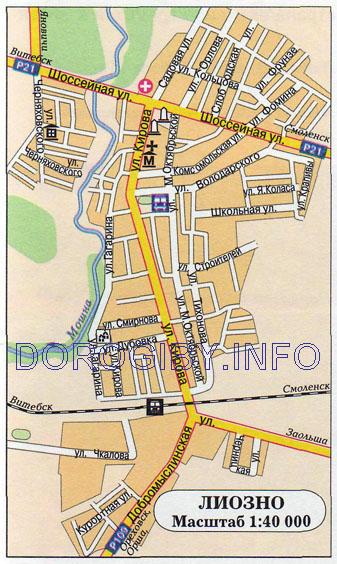 Карта Лиозно