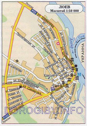 Карта Лоева