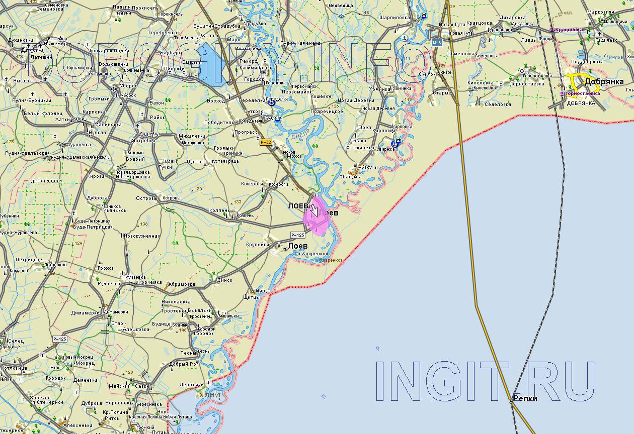 Карта Лоевского района