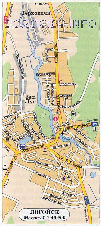 Карта Логойска