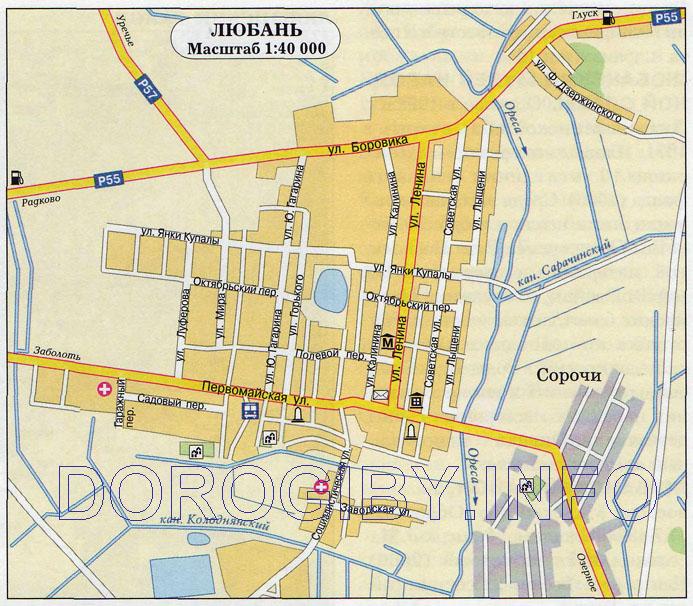 Карта Любани
